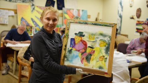 Silk Dye Painting
