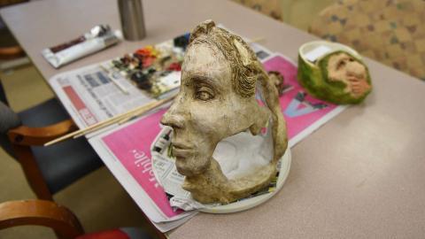 Benson Center Clay Sculpture
