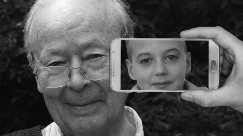 Phone senior and child