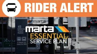 Rider Alert: MARTA's Essential Service Plan begins Monday, April 20, 2020