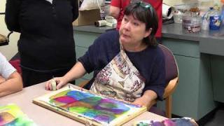 (Helen) Hellenne Vermillion - Silk Art Class    Dorothy Benson Center 10.17.17