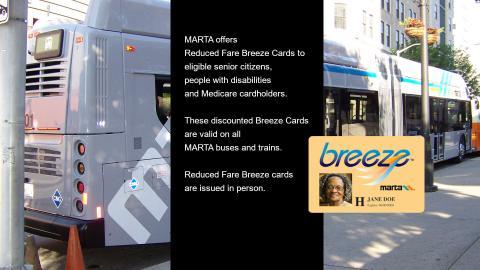 MARTA Reduced Fare Breeze Cards