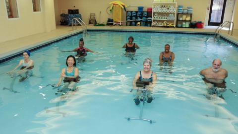 Benson Senior Facility Aquabikes Workshop